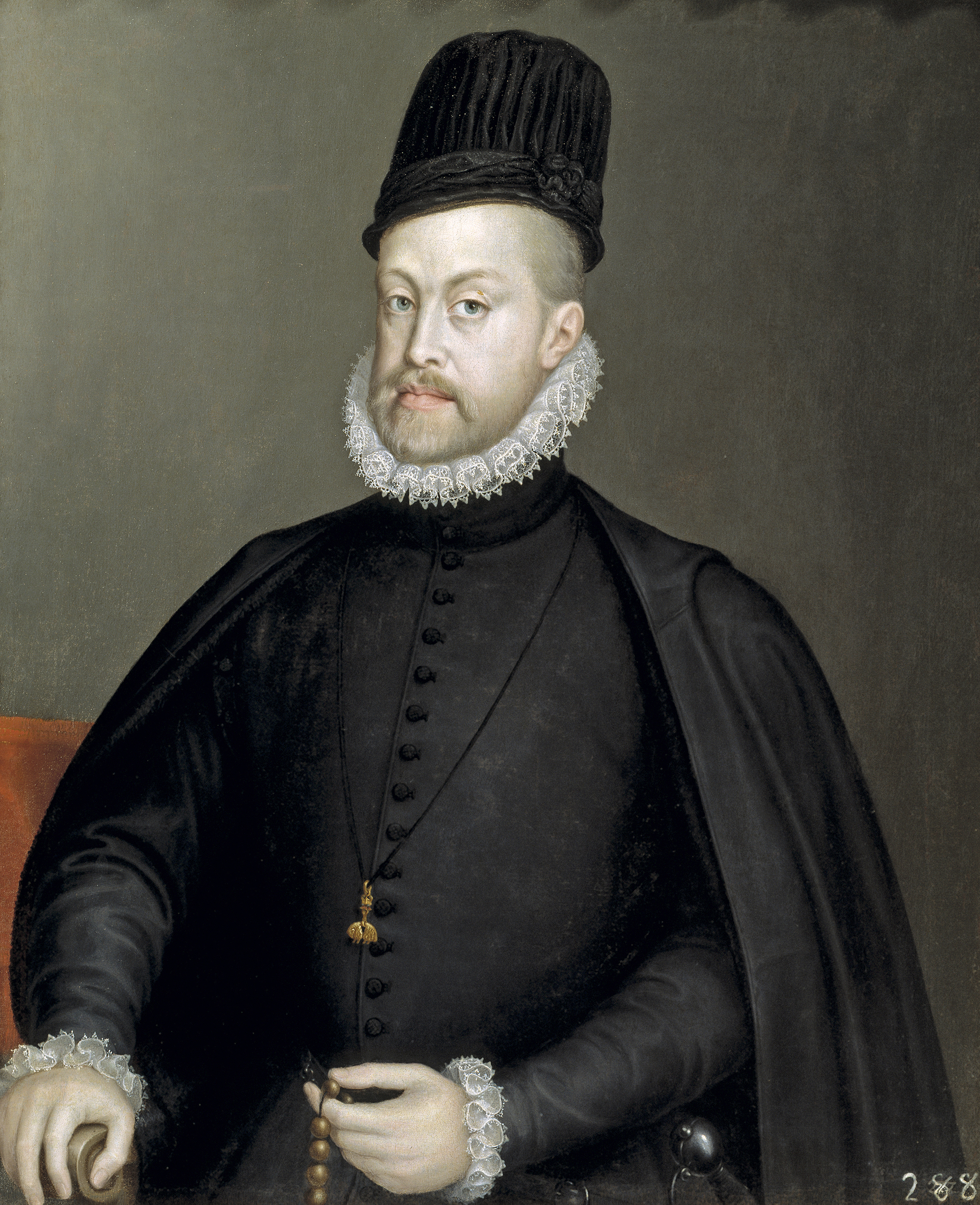 Portrait of Philip II of Spain by Sofonisba Anguissola - 002b